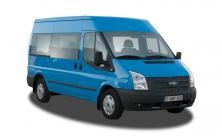 Minibus pour 9 personnes (8 passagiers + 1 chauffeur) avec coffre large et crochet de remorque - cl 55)