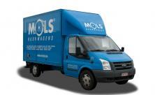 Compacte verhuiswagen met laadklep - 3 zitplaatsen - (kl 45)