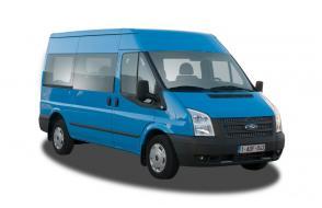 Minibus pour 9 personnes (8 passagiers + 1 chauffeur) avec large coffre et crochet de remorque - LEZ permis (cl 16)