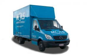 Maxi verhuiswagen met laadklep - 3 zitplaatsen - (kl 48)